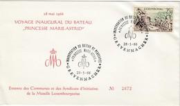 "LUXEMBURG 1966 - MiNr: 594 Beleg Mit SStmp. Stapellauf ""Princesse Maria Astrid"" - Luxemburg"