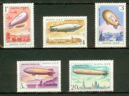 USSR 1991 MNH** - Zeppelins - Mi 6216-20 - 1923-1991 URSS