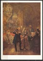 Ansichtskarte  -Deutschland  Adolph Menzel - Flötenkonzert König Friedrichs II, In Sanssouci - Malerei & Gemälde