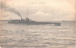 """LE SUBMERSIBLE """"THERMIDOR"""" - Belle Carte Postée Le 4 Septembre 1924 - Unterseeboote"""