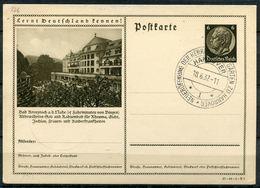 """German Empires1934 GS Mi.Nr.P236/37-84-1-B6 """"Lernt Deutschland Kennen!-Bad Kreuznach,Kurhaus"""" Mit SST""""Hannover""""1 GS Used - Allemagne"""