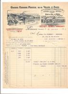 FACTURE CIDRERIE DE LA VALLEE D'AUGE - GUERET René LISIEUX - (Saffrey Successeurs) - Food