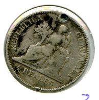 KM168-1 Ou KM168-2 4 Reales 1894 - Guatemala