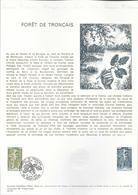 DOCUMENT OFFICIEL 19/76 FORET DE TRONCAIS - COTE 2009 = 6.00 € - Documents De La Poste