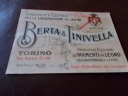 B696  Torino Berta E Tinivella Lavorazione Del Legno Cm14x10 - Cartes De Visite