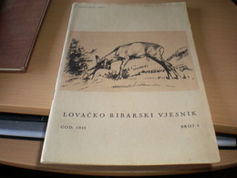 Lovacko Ribarsi Vjesnik 1940 Broj 6 Hunting And Fishing No 6 Zagreb 1940 - Books, Magazines, Comics
