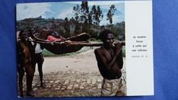 CPSM RWANDA RWANKUBA TRANSPORT D UN MALADE AU DISPENSAIRE RELIGIEUSES DE L ASSOMPTION - Rwanda