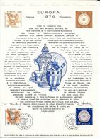 DOCUMENT OFFICIEL 11/76 EUROPA - COTE 2009 = 9.00 € - Documents Of Postal Services
