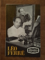 Programme Léo Ferré à L'Alhambra Une Spectacle De Maurice Chevalier - Pub - Cognac Courvoisier, Fanta, Schweppes, Biere - Programmes