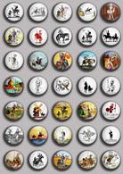 Don Quijote Fan ART BADGE BUTTON PIN SET 1 (1inch/25mm Diameter) 35 DIFF - Celebrities