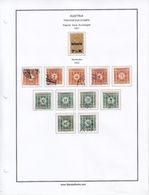 AUSTRIA 1921-1922, COLLEZIONE SEGNATASSE SU ALBUM, 12 VALORI MH*, USATI - Postage Due