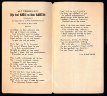 GENT 1924 AANDENKEN AAN NEEF  FIRMIN MET  NICHT ALBERTIEN   18 X 10 CM - Huwelijksaankondigingen