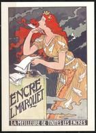 """Ansichtskarte  -     Eugene Grasset Plakat  Encre L. Marquet """" - Werbepostkarten"""
