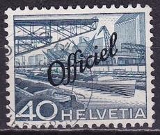 Switzerland / Schweiz / Suisse: 1950 Landschaften 40 C Blau Mit Aufdruck Officiel Michel D 71 - Dienstzegels