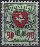 Switzerland / Schweiz / Suisse: 1924 Wappen 90 C Grün / Rot Mit Aufdruck B.I.d.T. Michel BIT / ILO D 21 X - Dienstzegels