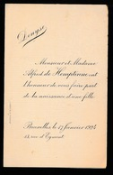 ADEL NOBLESSE  MONSIER ET MADAME ALFRED De HEMPTINNE  - GEBOORTE DOCHTER DENUSE  1924 - Geboorte & Doop