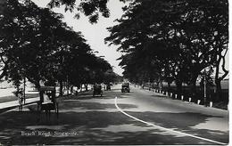 Real Photo Postcard, China, Singapore, Beach Road, Automobile, Street, Landscape. 1937 - Singapore