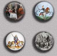 Don Quijote Fan ART BADGE BUTTON PIN SET 3 (1inch/25mm Diameter) 35 DIFF - Celebrities