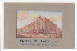 CPA TURQUIE Hotel M. Tokatlian Grand Rue De Pera Constantinople - Turquie