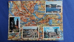 CONTOUR GEOGRAPHIQUE REGION STOCKHOLM  SUEDE PAS MENTION CP - Cartes Géographiques
