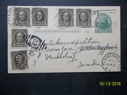 USA: 1929 Uprated Postal Card To Sweden (#EJ1) - Postal Stationery