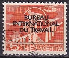 Switzerland / Schweiz / Suisse: 1950 Landschaften 5 C Orange Mit Aufdruck B.I.d.T. Michel BIT / ILO 83 - Dienstzegels
