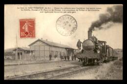 63 - GOUTTIERES - TRAIN EN GARE DE CHEMIN DE FER - Autres Communes