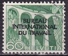 Switzerland / Schweiz / Suisse: 1950 Landschaften 60 C Grün Mit Aufdruck B.I.d.T. Michel BIT / ILO 92 - Dienstzegels