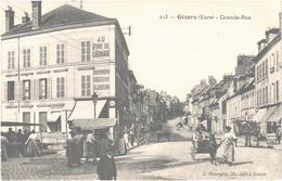 GISORS (27) La Grande Rue - Attelage âne - Marché - Bon état - Très Belle Carte - Gisors