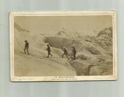 PHOTO - 74 Chamonix LE MONTENVERS - Traversée De La Mer De Glace Animé ( 15 X 9,2 ) - Places