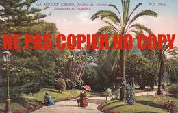 MONTE CARLO JARDINS DU CASINO BANANIER ET PALMIER COTE D'AZUR CARTE ANCIENNE EDIT. ND PHOTO A. SAUVAIGO CHROMO LEIPZIG - Monte-Carlo