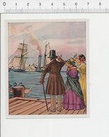Bateau Du Courrier / Navire à Vapeur à Roues Aube 39/29 - Chromos