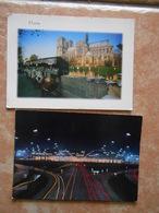 75  Aeroport De PARIS -ORLY - L'aérogare Vue La Nuit + Les Quais ; Notre Dame - Aéroports De Paris