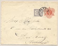 Curacao - 1914 - 5 Cent Wilhelmina, Envelop G1 + 7,5 Cent Van Grootrond SABA Naar Den Haag / Nederland - Curaçao, Nederlandse Antillen, Aruba
