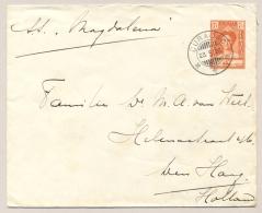 Curacao - 1929 - 7,5 Cent Wilhelmina Met SS Simon Bolivar, Envelop G24 Van KB CURACAO Naar Den Haag / Nederland - Curaçao, Nederlandse Antillen, Aruba