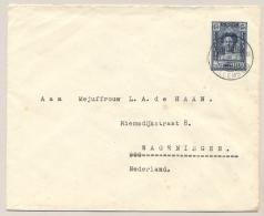 Curacao - 1936 - 15 Cent Wilhelmina Met SS Simon Bolivar, Envelop G26 Van KB CURACAO/WILLEMSTAD Naar Wageningen - Curaçao, Nederlandse Antillen, Aruba