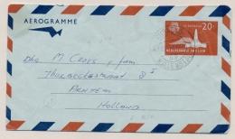 Curacao - 1969 - 20c Juliana Met St Eustatius Aerogramme G3 Van KB Curacao/Willemstad 52 Naar Arnhem / Nederland - Curaçao, Nederlandse Antillen, Aruba