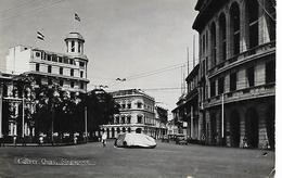Real Photo Postcard, China, Singapore, Collyer Quay, Buildings, Shops, Automobile. 1936. - Singapore
