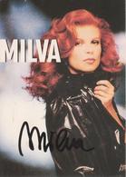 MILVA Con Autografo - Chanteurs & Musiciens