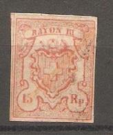 Timbre De 1852 ( Rayon III / N° 18 ) - 1843-1852 Timbres Cantonaux Et  Fédéraux