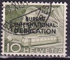 Switzerland / Schweiz / Suisse: 1950 Landschaften 10 C Grün Mit Aufdruck B.I.d.E. Michel BIE / IBE 30 - Dienstzegels