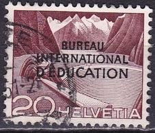 Switzerland / Schweiz / Suisse: 1950 Landschaften 20 C Violet Mit Aufdruck B.I.d.E. Michel BIE / IBE 32 - Dienstzegels