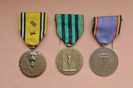Militaria Belge Lot De 3 Médailles COMMEMORATIVES Guerre 1939-45 - Belgium