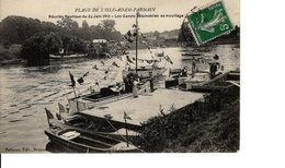 PLAGE DE L'ISLE ADAM PARMAIN REUNION NAUTIQUE DU 29 JUIN 1913 - L'Isle Adam