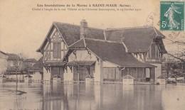94. SAINT MAUR. CPA.  INONDATIONS DE JANVIER 1910. CHALET A L'ANGLE DE LA RUE VILETTE ET DE LA RUE BEAUREPAIRE. - Saint Maur Des Fosses