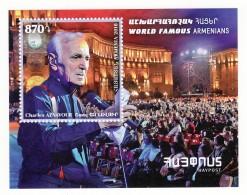 Armenie 2018, Les Arméniens De Renommée Mondiale: Charles Aznavour, SS  - MNH - Arménie