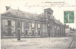 EVREUX (27) Le Palais De Justice - Rare - Carte Postée 3 Jours Après L'incendie - - Evreux
