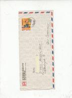 TAIWANM - FORMOSA  1976 - Yvert 1062  (servizi Postali) - Lettera Per Germania - 1945-... Repubblica Di Cina
