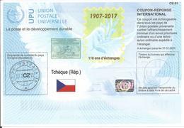 Czech Republic International Reply Coupon IRC 2017 ISTANBUL ICR IRC CRI Hologram 110 Years - Tchéquie