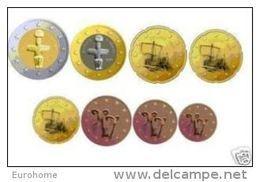 Cyprus  2014    De Volledige Set Van 8 Munten / 8 Pieces De 1ct A 2 Euro .     UNC Uit De Rol  UNC Du Rouleaux - Zypern